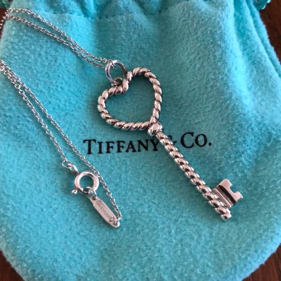 9c839b716 Tiffany & Co. Jewelry   Tiffany Co Heart Twist Key Pendant   Poshmark